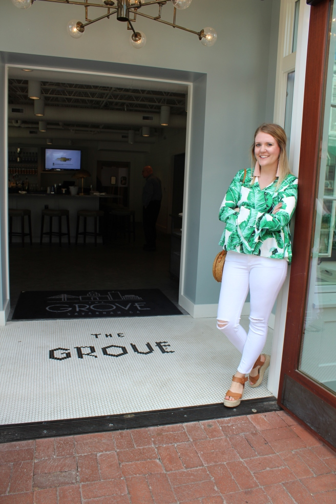 Savannah Mom Blogger, Being Mrs. Fowler, visits new Savannah restaurant and nightlife hot spot, The Grove