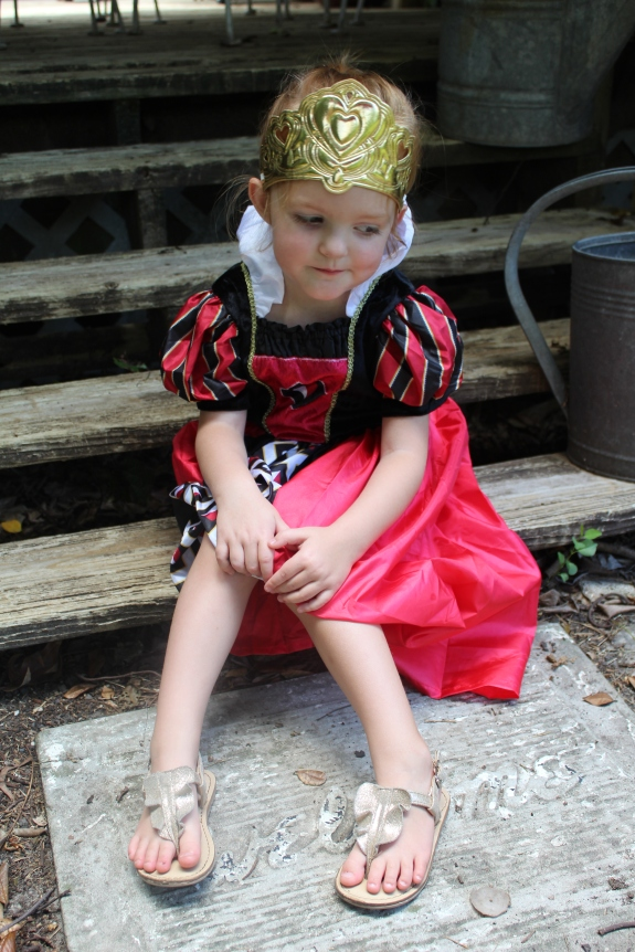 Savannah Blogger, Being Mrs. Fowler, shares tips on child care options in Georgia with Quality Rated, Bright from the Start, GEEARS, while daughter wears Little Adventure's Dress Up, Que
