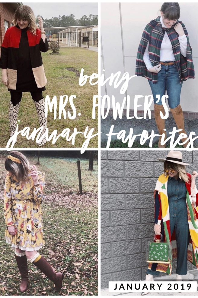 Savannah Blogger, Being Mrs. Fowler, January Favorites, Mom Style, Teacher Outfit, Modest Fashion